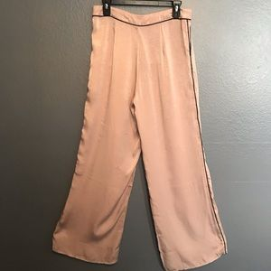NWT DO & BE Wide Leg Simmer Pants dusty pink Sz L